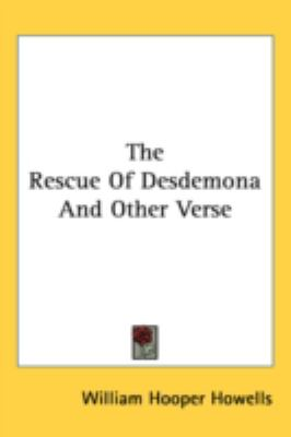 Rescue of Desdemona and Other Verse  N/A 9780548518939 Front Cover