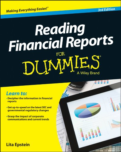 Reading Financial Reports for Dummies�  3rd 2014 edition cover
