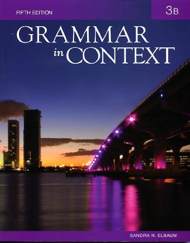 Grammar in Context 3: Split Text B (Lessons 6 - 10)  5th 2011 edition cover