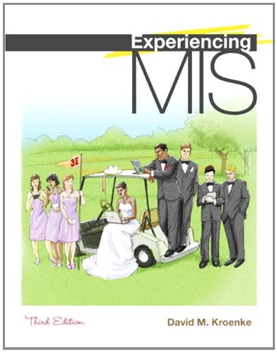 Experiencing MIS  3rd 2012 edition cover