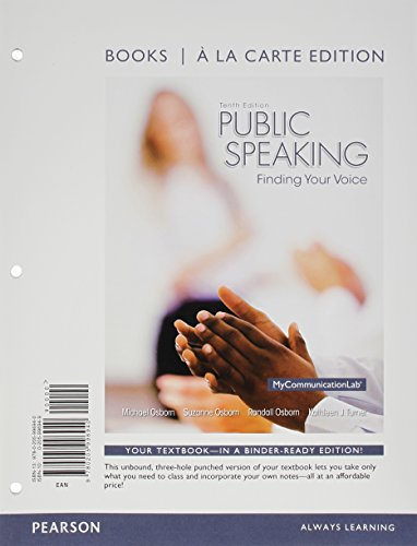 Public Speaking Finding Your Voice 10th 2015 edition cover