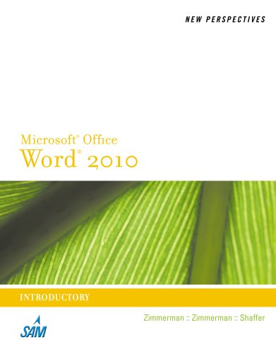 Microsoft Word 2010 Introductory  2011 9780538748940 Front Cover