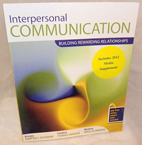 Interpersonal Communication Building Rewarding Relationships Revised  edition cover