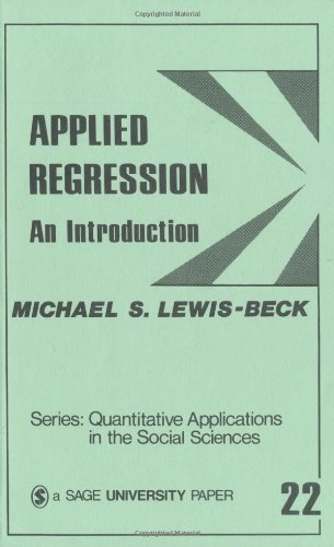 Applied Regression An Introduction  1980 edition cover