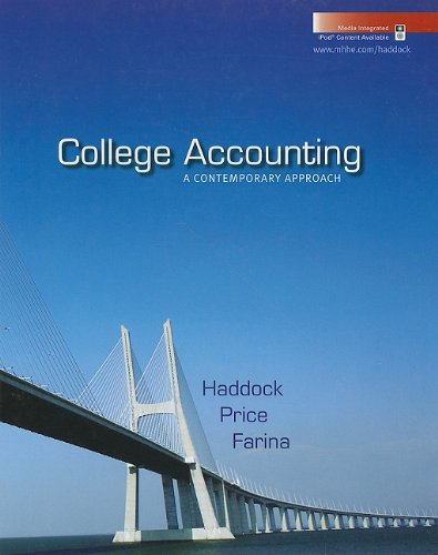 College Accounting : A Contemporary Approach with Home Depot 2006 Annual Report  2010 9780073396941 Front Cover