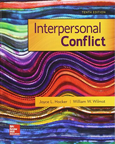 Interpersonal Conflict  10th 2018 9780073523941 Front Cover