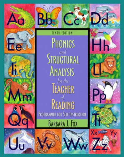 Phonics and Structural Analysis for the Teacher of Reading  10th 2010 edition cover