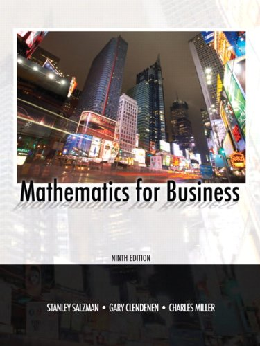 Mathematics for Business  9th 2011 edition cover