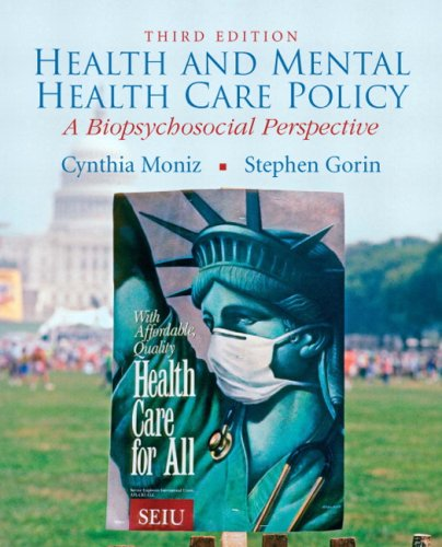 Health and Mental Health Care Policy A Biopsychosocial Perspective 3rd 2010 edition cover