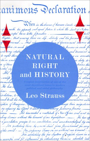 Natural Right and History   1999 (Reprint) edition cover