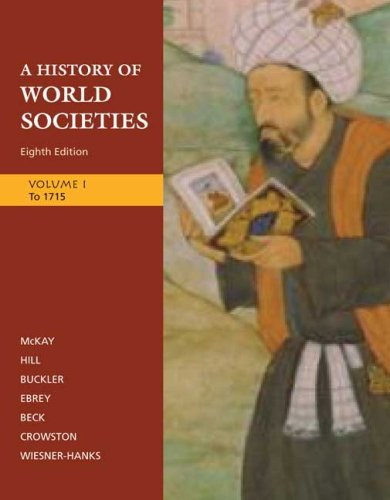 History of World Societies to 1715  8th 2009 edition cover