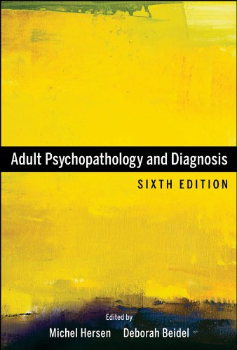 Adult Psychopathology and Diagnosis  6th 2012 edition cover