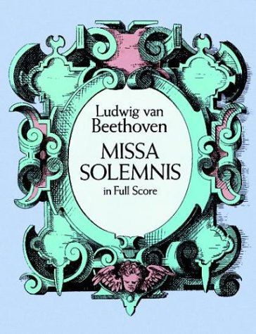 Missa Solemnis in Full Score  N/A 9780486268941 Front Cover
