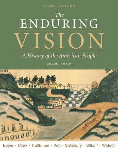 Enduring Vision to 1877  7th 2011 edition cover