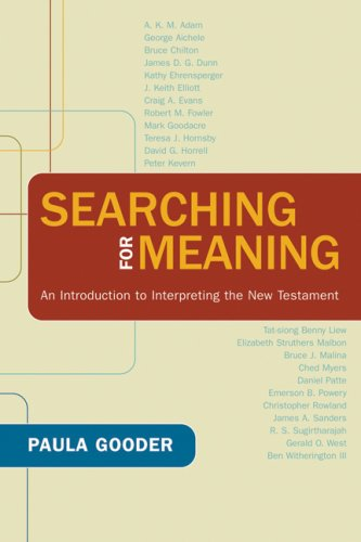 Searching for Meaning An Introduction to Interpreting the New Testament  2009 edition cover