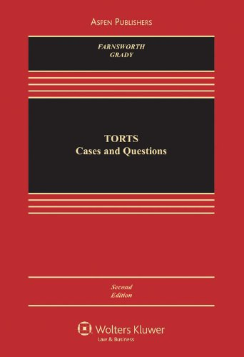 Torts Cases and Questions 3rd 2009 (Student Manual, Study Guide, etc.) edition cover