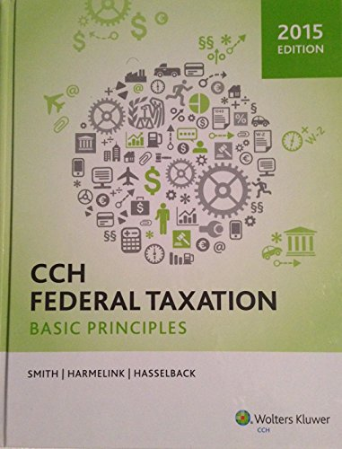 Cch Federal Taxation Basic Principles N/A edition cover