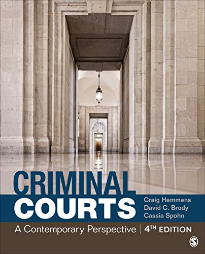 Criminal Courts A Contemporary Perspective 4th 2020 9781544338941 Front Cover