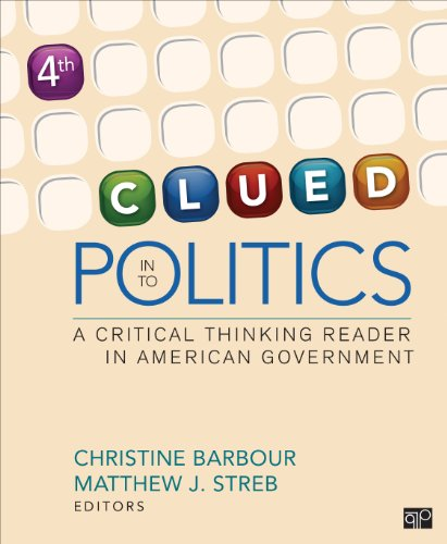 Clued in to Politics: A Critical Thinking Reader in American Government  2013 edition cover