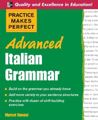 Advanced Italian Grammar   2011 edition cover