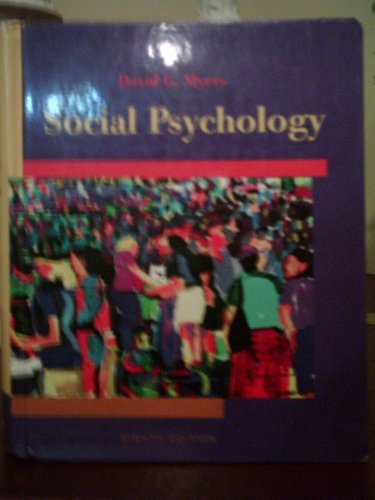 Social Psychology 8th 2005 edition cover