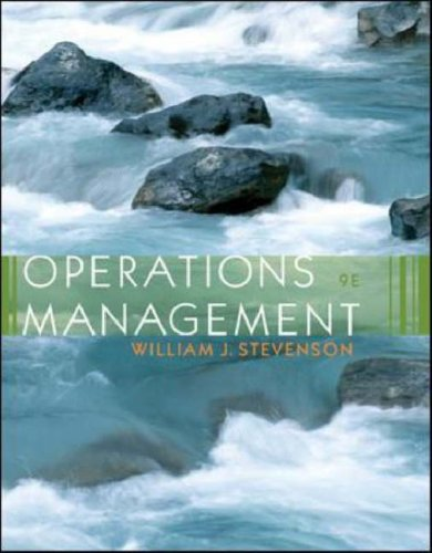 Operations Management with Student DVD  9th 2007 (Revised) edition cover