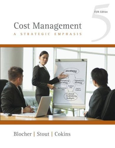 Cost Management A Strategic Emphasis 5th 2010 edition cover