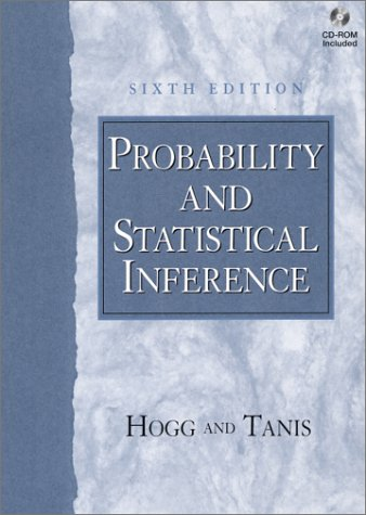 Probability and Statistical Inference  6th 2001 edition cover