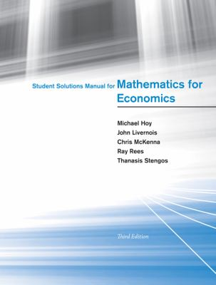 Mathematics for Economics  3rd 2012 9780262517942 Front Cover