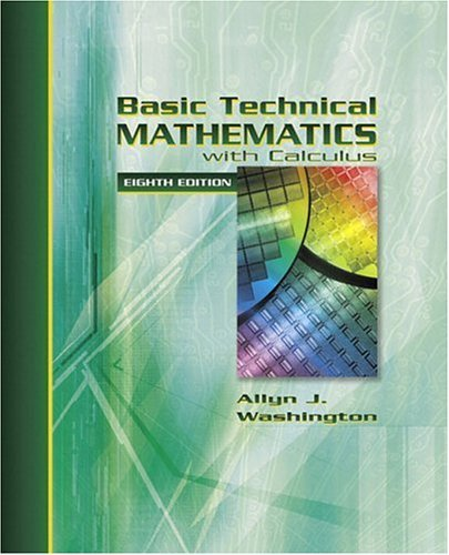 Basic Technical Mathematics with Calculus  8th 2005 (Revised) 9780321131942 Front Cover