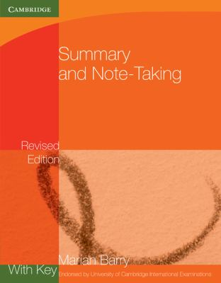 Summary and Note-Taking with Key   2010 9780521140942 Front Cover