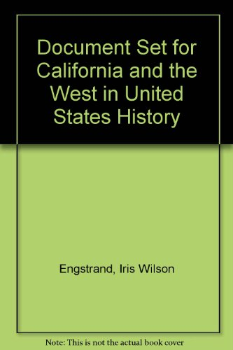 Regional Document Sets Document Sets for California and the West in U. S. History 11th 1993 edition cover