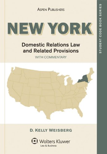New York Family Code and Related Provisions 2007-2008   2009 9780735569942 Front Cover