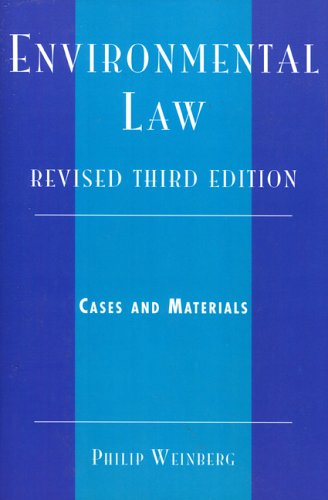 Environmental Law Cases and Materials 3rd 2006 (Revised) edition cover