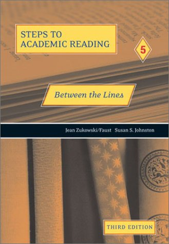 Steps to Academic Reading 5 - Between the Lines  3rd 2003 (Revised) 9780030339943 Front Cover