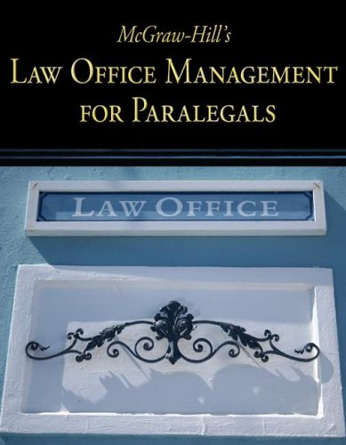 McGraw-Hill's Law Office Management for Paralegals   2009 edition cover