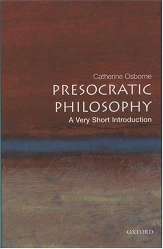Presocratic Philosophy   2003 edition cover