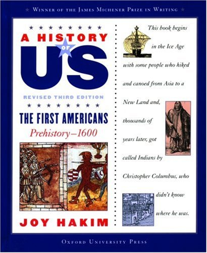 First Americans Prehistory 1600  3rd 2005 (Revised) edition cover