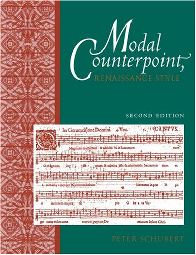 Modal Counterpoint Renaissance Style 2nd 2008 edition cover