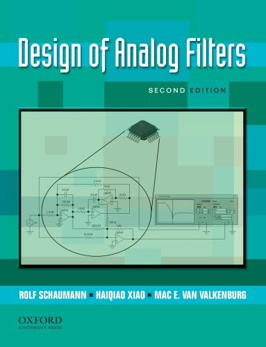Design of Analog Filters  2nd edition cover