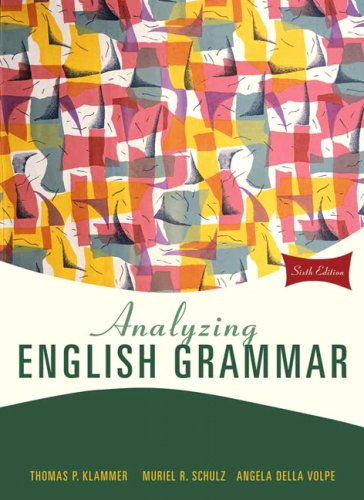 Analyzing English Grammar  6th 2010 9780205685943 Front Cover