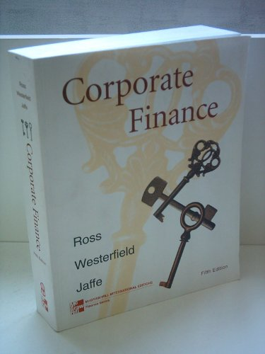 Solutions Manual Corporate Finance 5th 1999 9780256261943 Front Cover