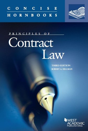 Principles of Contract Law:   2013 edition cover