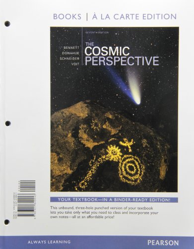 Cosmic Perspective, the, Books a la Carte Edition  7th 2014 edition cover