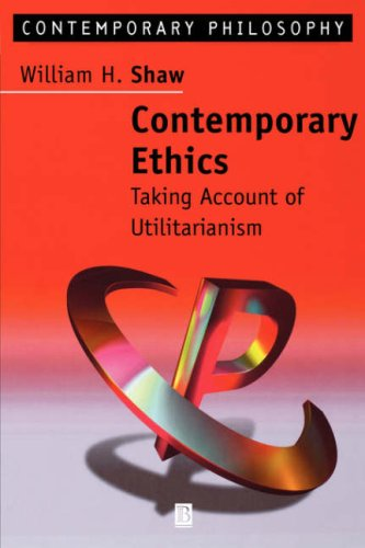 Contemporary Ethics Taking Account of Utilitarianism  1998 9780631202943 Front Cover