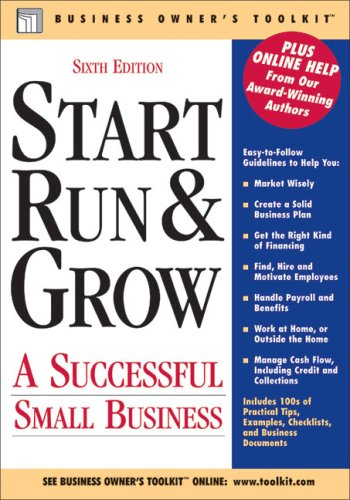 Start, Run, and Grow A successful Small Business 6th (Revised) edition cover