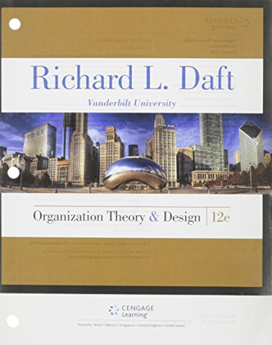 Organization Theory and Design  12th 2016 edition cover