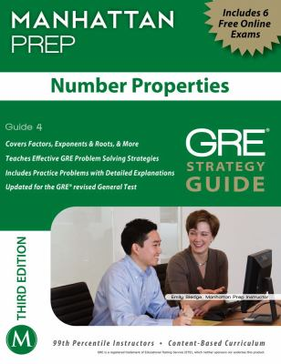 Number Properties GRE Strategy Guide, 3rd Edition  3rd (Revised) 9781935707943 Front Cover