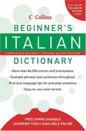 Collins Beginner's Italian Dictionary  2nd 2008 edition cover