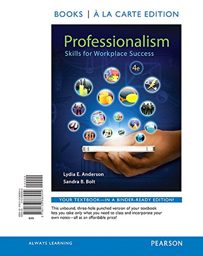 Professionalism: Skills for Workplace Success, Books a La Carte Edition  2015 edition cover